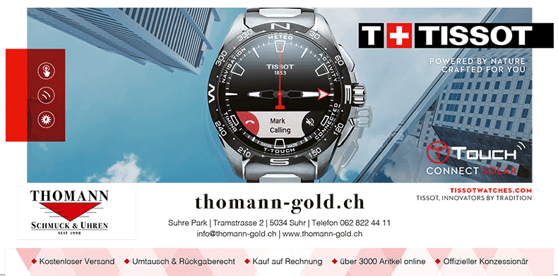 Tissot Touch Connect Thoman Gold | Der Landanzeiger